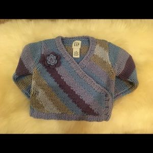 baby Gap Wrap Corsage Sweater